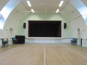 church hall and stage