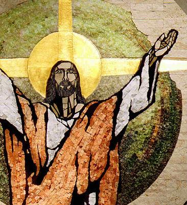 Risen Christ mosaic