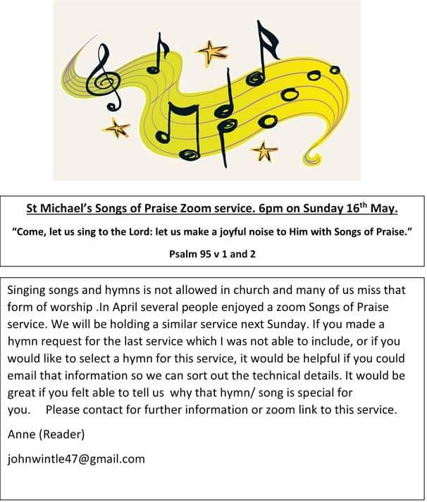 Songs of Praise Zoom Service
