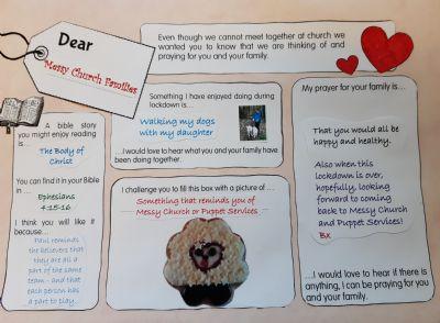 Messy Families prayer Sheet
