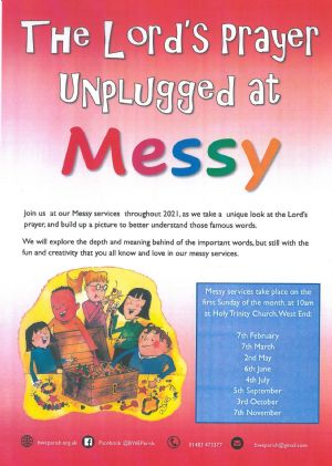 poster for Messy Unplugged