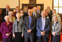 Picture of Rev Graham Brown with church elders 2015