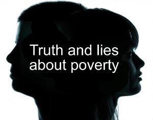 Truth  Lies about Poverty logo