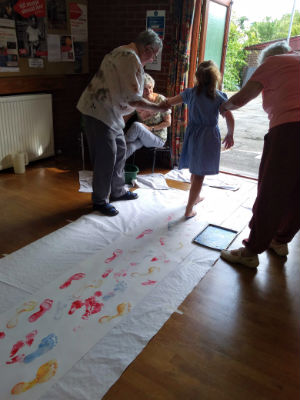 Messy Church footprints