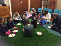 Messy Church meal - in green pastures