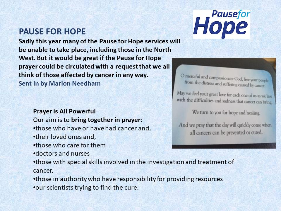 Pause for Hope