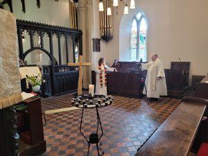 Revd. Canon Brian McConkey and Revd Karen