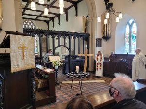 Jane, our Churchwarden, leads the farewell to Revd. Karen