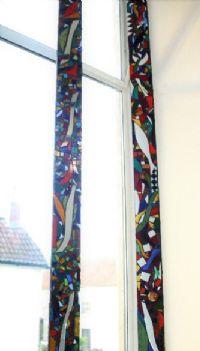 Glass Mosaic window art by Judith Ryder