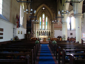 The nave looking towards the east window