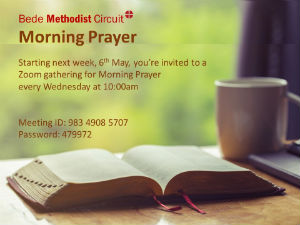 Bede Morning Worship poster