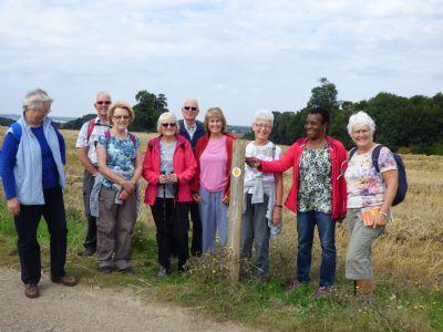 Walking Group near Sacombe
