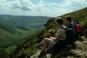 The walking group in Derbyshire
