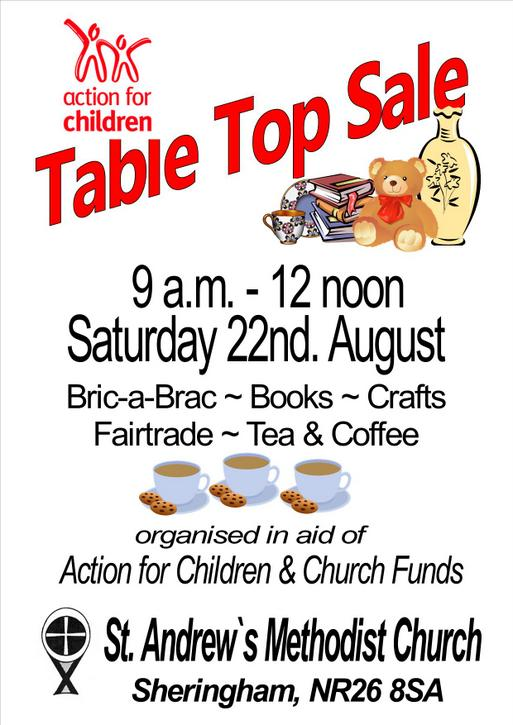 StA - Table top sale poster