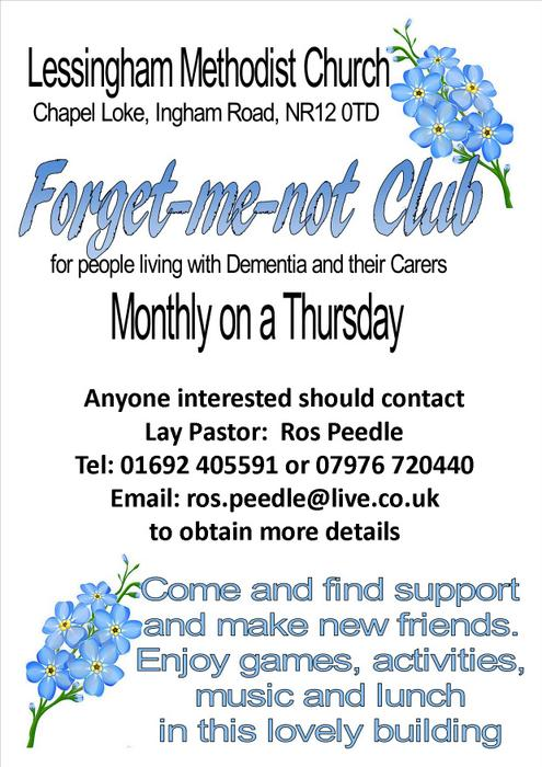 2017 - Lessingham Forget-me-not club poster