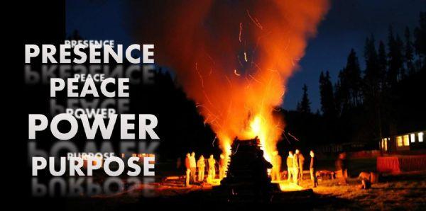 Presence Peace Power Purpose Fire