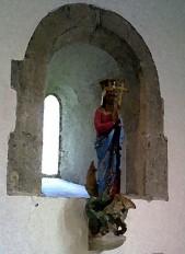 Statue of St Margaret found