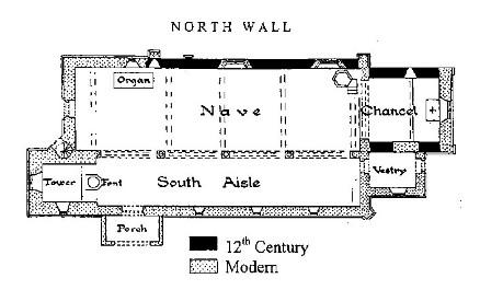Plan of St Margaret's