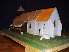 Model of the church based upon the sketch