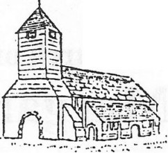 The Church, 1795 A contemporary drawing showing lean-to porch