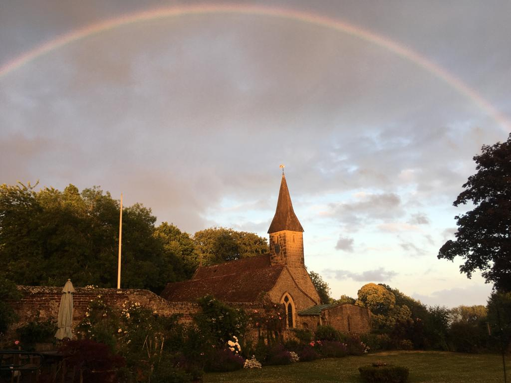 Rainbow over St Peter's