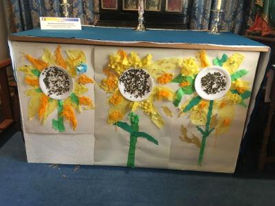 Sunflower alter frontispiece at St Margaret's