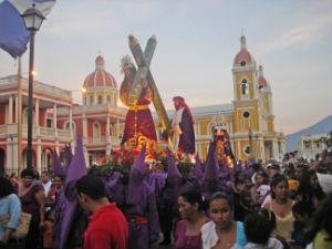 Holy Week Procession in Granada, Nicaragua