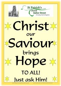 Poster depicting Christ as our hope