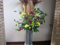 Sacred Heart flowers Oct 15