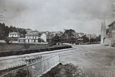 St Saviours in Bournemouth photographed in 1865