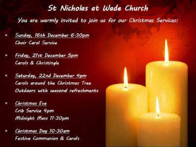 St Nicholas Christmas Services 2018