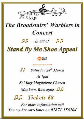 The Broadstairs Warblers in Concert at St Mary Magdalene, Monkton
