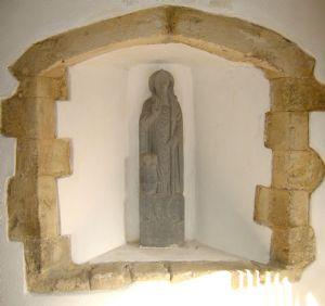 St Nichs porch statue